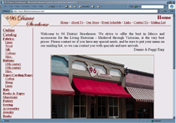 Screenshot of 96 District Storehouse's Web Site