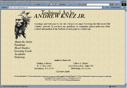 Screenshot of Andrew Knez Jr.'s Web Site