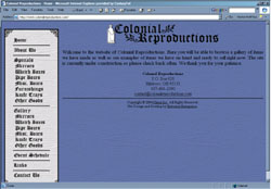 Screenshot of ColonialReproduction's Web Site