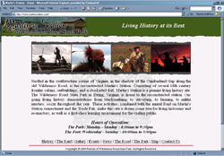 Screenshot of Martin's Station's Web Site