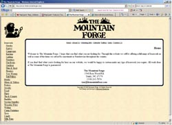 Screenshot of The Mountain Forge's Web Site