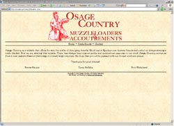 Screenshot of Osage Country Muzzleloader's Web Site