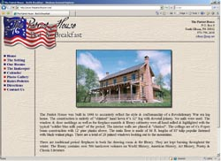 Screenshot of The Patriot House Web Site