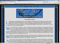 Screenshot of Shinin' Times Powder Horns' Web Site