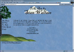 Screenshot of Stan Wallace's Web Site