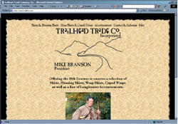 Screenshot of Trailhead Trail Co.'s Web Site