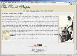 Screenshot of The Trunk Shoppe's Web Site