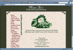 Screenshot of Wayne Zurl's Web Site