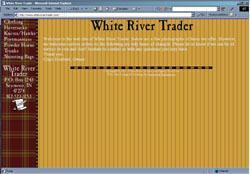 Screenshot of White River Trader's Web Site