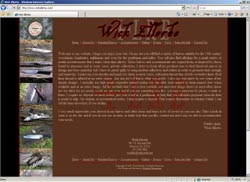 Screenshot of Wick Ellerbe's Web Site